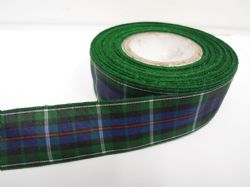 Mackenzie Blue & Green Tartan Ribbon 2 metres or 25 metres (Full Roll) double sided scotish 12mm, 16mm, 25mm & 38mm